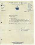 06/01/1948 Letter from the Lewiston Chamber of Commerce