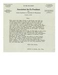 1948 Letter from Association des Ex-Presidents des Unions Canadienne et Americaine de Raquetteurs
