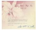 1948 Dube's Flower Shop Note