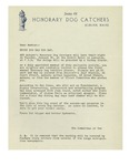 1948 Letter from the Society of Honorary Dog Catchers Auburn, Maine