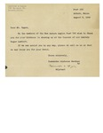Letter from Maurice A. Begin