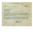 02/01/1949 Letter from the Great Atlantic & Pacific Tea Company by J. S. Hunt