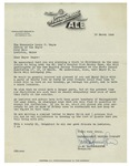 03/10/1949 Letter from Narragansett Brewing Company by C. W. Haffenreffer