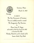 1947 Inaguration Day Exercises Invitation