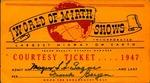 1947 World of Mirth Courtesy Ticket