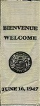 1947 Welcome Ribbon by Unknown