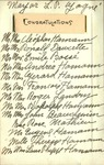 Louis-Philippe Gagne Congratulations Note with Signatures