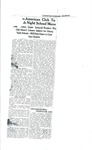 Copy of Lewiston Evening Journal Franco-American Club News Article