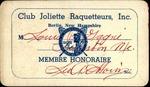 Louis-Philippe Gagné Club Joilette Raquetteurs Membership Card