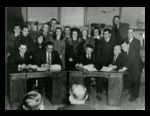 Signing of the First Textile Union Contract in Lewiston, Maine Photograph