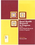 Rural Health Research in Progress in the Rural Health Research Centers Program