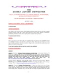 Family Affairs Newsletter 2011-08-01 by Zack Paakkonen