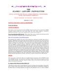 Family Affairs Newsletter 2012-09-15