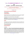 Family Affairs Newsletter 2012-11-15 by Zack Paakkonen