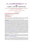 Family Affairs Newsletter 2013-08-15