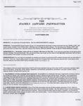 Family Affairs Newsletter 2006-09-15