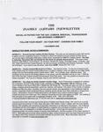 Family Affairs Newsletter 2008-11-01