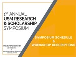2018 Research & Scholarship Schedule by University of Southern Maine