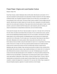 Fraser Paper: Origins and Local Acadian Culture