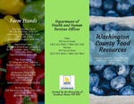 Washington County Community Food Resources by Hannah Bonnie