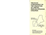 Tri-State Conference on the Education of Limited-English-Speaking Children Brochure [1977]