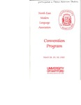 Northeast Modern Language Association Convention Program [1985] by University of Hartford