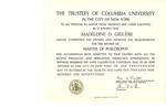 Columbia University Diploma