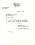 Correspondence from St. John's University by John J. Trainor C.M. and John J. Regan C.M.