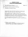 University of Maine Interoffice Memorandum by Madeleine Giguère