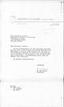 Letter from N. Edd Miller to Madeleine Giguere by N. Edd Miller
