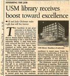 USM Library Receives Boost Toward Excellence by Unknown