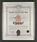 AA MS 1 Gerald E. Talbot Collection Klu Klux Klan Charter, Androscoggin County, Maine, 1925