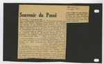 Souvenir du Passé [Article]