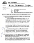 Maine Newspaper Project Advisory Board Memo