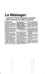 Le Messager: Lewiston's French language newspaper will be recorded by state for posterity [Article] by Jennifer Sullivan