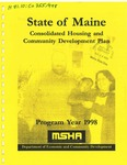1998 State of Maine Consolidated Housing and Community Development Plan by Matthew Eddy