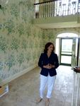 Lisa Walker in entrance to main house, Maine Chance Farm by Jeanne Curran-Sarto