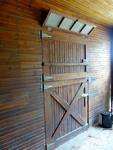 Maine Chance Farm, Stables, interior doors by Jeanne Curran-Sarto