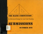 The Maine Competition: Architectural Design for Low-Cost Housing