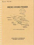 Micro Hydro Power by Frederick J. Munster
