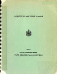 Inventory of Lake Studies in Maine