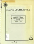 Electric Power Transmission & Purchases : Report Of a Study By the Joint Standing Committee on Utilities, 112th Maine Legislature
