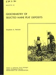 Geochemistry of Selected Maine Peat Deposits