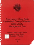 Presumpscot River Basin - Cumberland County Tidewater Water Quality Management Plan