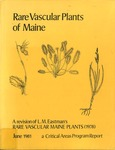 Rare Vascular Plants of Maine : A Critical Areas Program Report