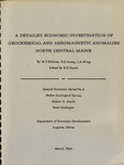 A Detailed Economic Investigation of Geochemical and Aeromagnetic Anomalies North Central Maine by W. F. Stickney, R. S. Young, and L. A. Wing