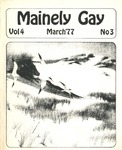 Mainely Gay, Vol.4, No.03 (March 1977) by Peter Prizer and Susan Henderson