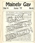 Mainely Gay, Vol.4, No.06 (June 1977) by Peter Prizer, Susan Henderson, and John Frank
