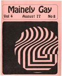 Mainely Gay, Vol.4, No.08 (August 1977) by Peter Prizer, Susan Henderson, and John Frank