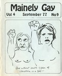 Mainely Gay, Vol.4, No.09 (September 1977) by Peter Prizer, Susan Henderson, John Frank, Tim Bouffard, and Miriam Dyak